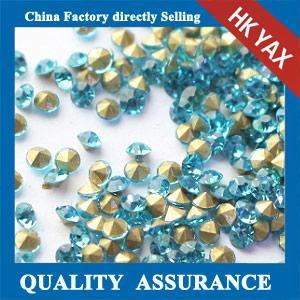 China china factory point back glass rhinestone,loose glass crystal rhinestones,loose glass point back rhinestone on sale