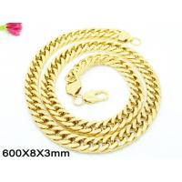 Best Long Double Ring Chain 60cm Golden Chain Necklace With Dog Clasp wholesale
