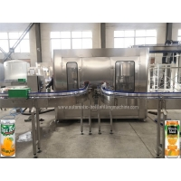 Quality 33cl Beverage Can Filling MachineMango Lemon Juice Rotary Canning Line for sale