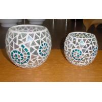 Quality hot sale cheap frosted glass candle holder for sale