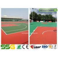 Quality Multifunctional Silicon PU Sport Court Flooring for Badminton / Tennis for sale