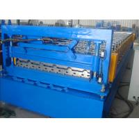 Quality Blue Steel Roof Panel Roll Forming Machine , Corrugating Roofing Machine for sale
