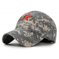Buy cheap Adjustable Embroidered Baseball Caps 100% Cotton Army Style For Adults from wholesalers