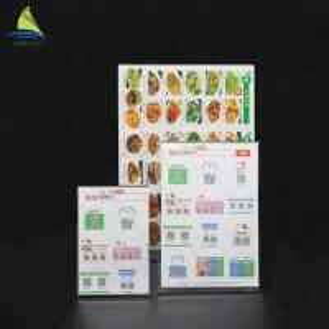 Quality Customized Clear Acrylic Slanted Design menu holder acrylic Sign for sale