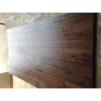 China rustic Solid Birch Hardwood Flooring., stained and matt finishing, handscraped and chatter surface on sale