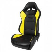 Yellow And Black Hydraulic Leather Seat Covers For Trucks CCC Certificate