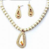 Best Fashionable Exaggerated Jewelry Set for Wedding, Anniversary and Party wholesale