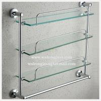 Quality Multilayer Bathroom Shelf with Top Quality Clear Tempered/Toughened Glass From China for sale