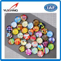 China Glass Crystal Fridge Decoration Magnets Custom Appearance 13mm Thickness on sale