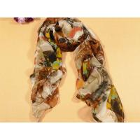 Quality Ladies' Hand Printing Floral Polyester Scarf for sale
