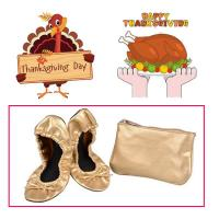 Quality Very Comfortable and Easy to Store in a Purse Colorful Foldable Ballet Shoe for Thanksgiving Day Gift for sale