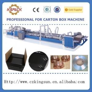 China automatic corrugated box stiching machinery ,full automatic box sticher on sale