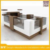 China Material mdf painting glass jewelry display table for mall display on sale