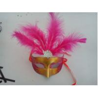Best Halloween Venetian Masquerade Party Multicolor Shell Decoration Mask With Feather wholesale