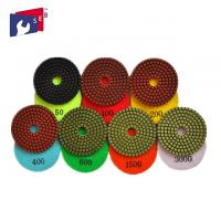 Quality 100mm Granite Diamond Polishing Pads 80 - 220 Mm For Buffing Marble Concrete for sale