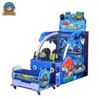 Quality Double Shot Dazzling Pictures 3D Coin Operated Game Machine for sale