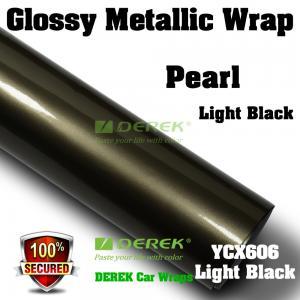 Quality Glossy Metallic Car Wrapping Film - Glossy Metallic Light Black for sale