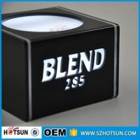 Quality Mblack acrylic lighted led wine display led counter display led for sale