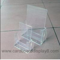 Buy cheap Clear Acrylic Brochure Holder With Silk Screen Printing from wholesalers
