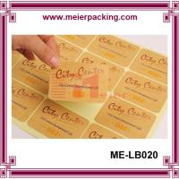 Best Adhesive kraft paper label sticker for boutique products/None lamination brown paper sticker  ME-LB020 wholesale