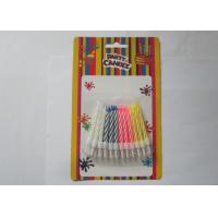 Quality Colorful Customized Spiral Birthday Paraffin Craft Candle Party Decoration for sale