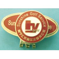 Quality Zinc Alloy Golf Accessories Gifts Golf Ball Marker Hat Clip With Corporate Logo for sale