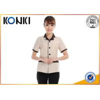 Quality Summer Stylish Hotel Restaurant Staff Uniforms Short Sleeve With Any Size for sale