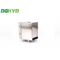 Quality Integrated Tab Up Double USB 2.0 RJ45 Network Connector For PCMCIA Net Card for sale