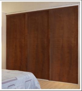 China Interior Louvered Closet Doors For Home Furniture, Aluminum Frame Wood Sliding Closet Door on sale
