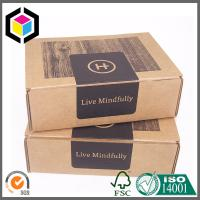 China Black Color Print Kraft Corrugated Shipping Box; Cardboard Mailing Box on sale