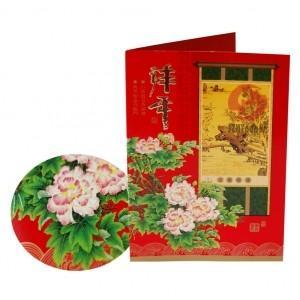 China Custom New Year,Christmas gift Matte lamination/UV coating Paper Greetings Card Printers  on sale