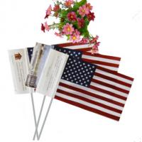 Quality wholesales cheap price material hand waving flag with customized logo for sale