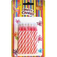 Quality Dia 0.77cm Spiral Stick Birthday Candles 12 Pcs 25 Grams Chunky Pink Likable Wax for sale