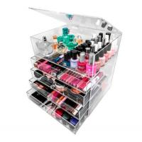 Best acrylic cosmetic organizer makeup holder with 3 4 5 6 drawers wholesale