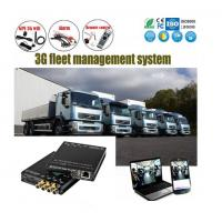 China 4Ch SD Card HD 1080P vehicle DVR H.264 Car Alarm Monitoring System Solution on sale