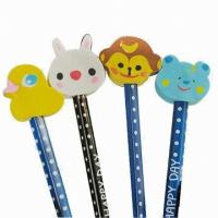 Quality Animal Pencil Top Erasers For Kids for sale