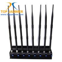 8 Antennas Power Adjust 20w High Power Jammer Block GSM 3G 4G LTE Wifi GPS Lojack VHF UHF
