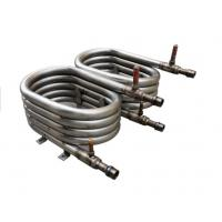Quality 20P Spiral Coil Coaxial Heat Exchanger Convenient Oil Returning Smoothly for sale