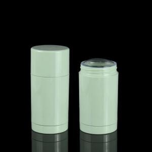 Quality 30ml 50ml 75ml Green Plastic Straight Round Twist-up Empty Deodorant Bottles for sale