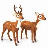 Best Christmas Spotted Deer, Ideal for Decoration, Measuring 23 x 26 and 25 x 22cm wholesale
