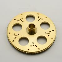 Quality Customize brass CNC Machining Parts precision brass machining parts with Clear anodized for sale