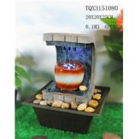 China Polyresin Water Fountain Hand Painting With Led Lights For Home Decoration on sale