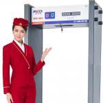Quality Door Frame Security Walkthrough Metal Detector 50/60 Hz With Alarm / Pass Count for sale