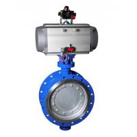Quality Sanitary Stainless Steel Pneumatic Actuator Butterfly Valve DN10-200 for sale