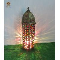 Buy cheap Morrocon Metal Lantern lamp with Colourful Acrylic Decoration stand type from wholesalers