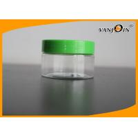 Quality Face Cream Use 100g/100ml Flat Style Clear Plastic Jar With Screw Cap for sale