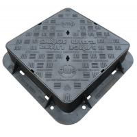 Buy cheap EN124 D400 Cast Iron Manhole Cover Double Sealed Triangular Ductile Iron Manhole Cover And Frame from wholesalers