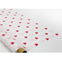 Quality Heart Shapes Custom Printed Wax Paper , Greaseproof Decorative Wax Paper Sheets for sale