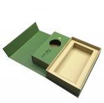 Quality Green Custom Printed Tea Box Book Shape Design Biodegradable Feature for sale