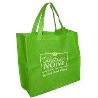 China Small Green Color Folding Recycling Laminated Non Woven Bag Fabric on sale
